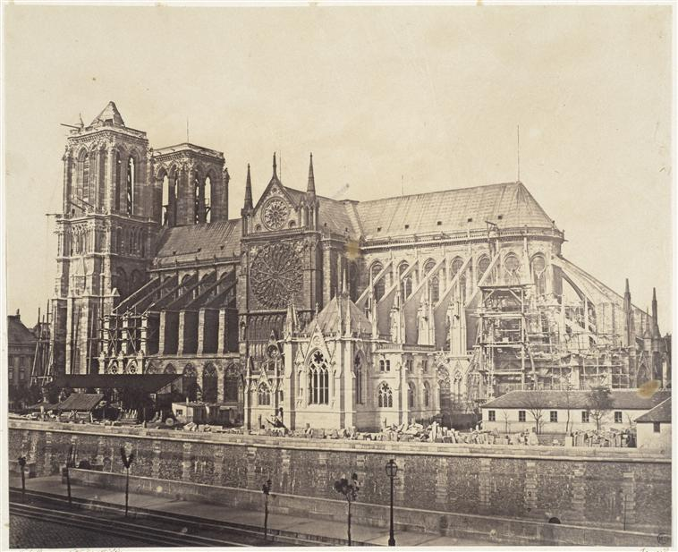 Credited to Le Gray, Cathédrale Notre-Dame de Paris. 1859.   Source:   Lien
