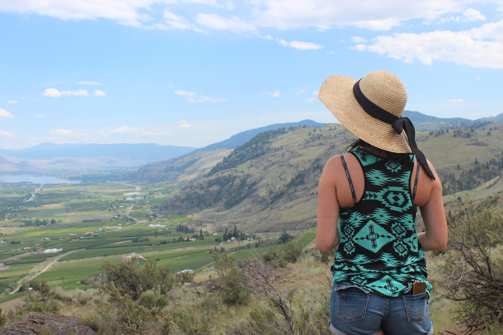 Looking down towards Osoyoos from the Golden Mile near Oliver