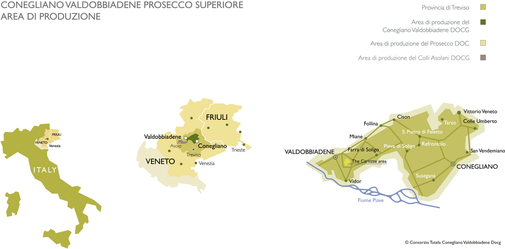 Veneto, meet Friuli. Friuli, Veneto. Protected from north winds by the Dolomites, with the Adriatic to the east.