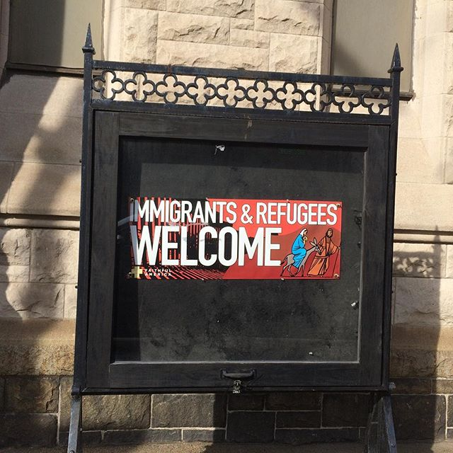 This is how we do it. #ilovemybrooklyn #wewelcomerefugees not down with the #muslimban #travelban #brooklyn is for #loversnothaters