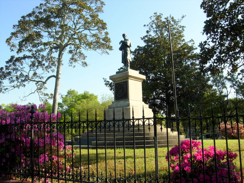 THE CONFEDERATE MONUMENT LOCATED AT OAKDALE CEMETERY IN WILMINGTON,    NORTH CAROLINA.