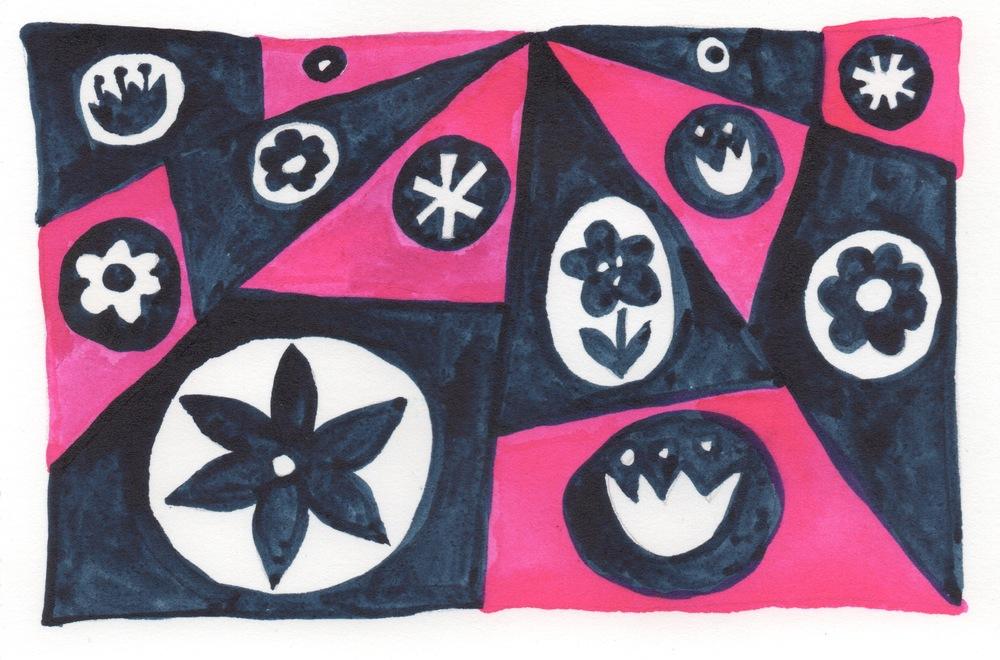 pink flower quilt