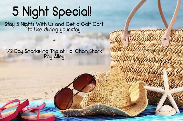 It's a great time to stay at Indigo Belize! Stay for 5 Nights and take advantage of this awesome special!