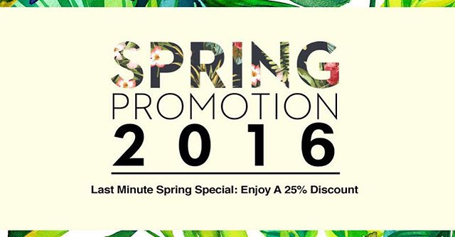 Take advantage of our current spring promotion and you can be soaking in some sun before you know it! Visit our website for more information
