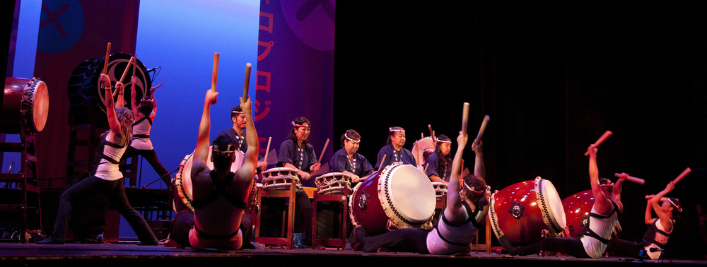 Bombu Taiko at Rhythmic Relations 2015, photo by Kim Nakashima