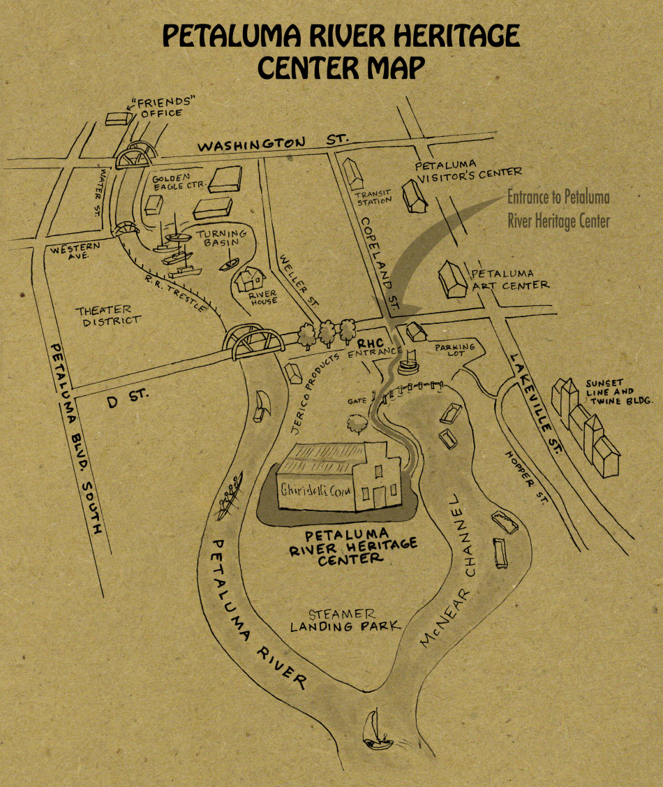 Petaluma River Heritage Center Map