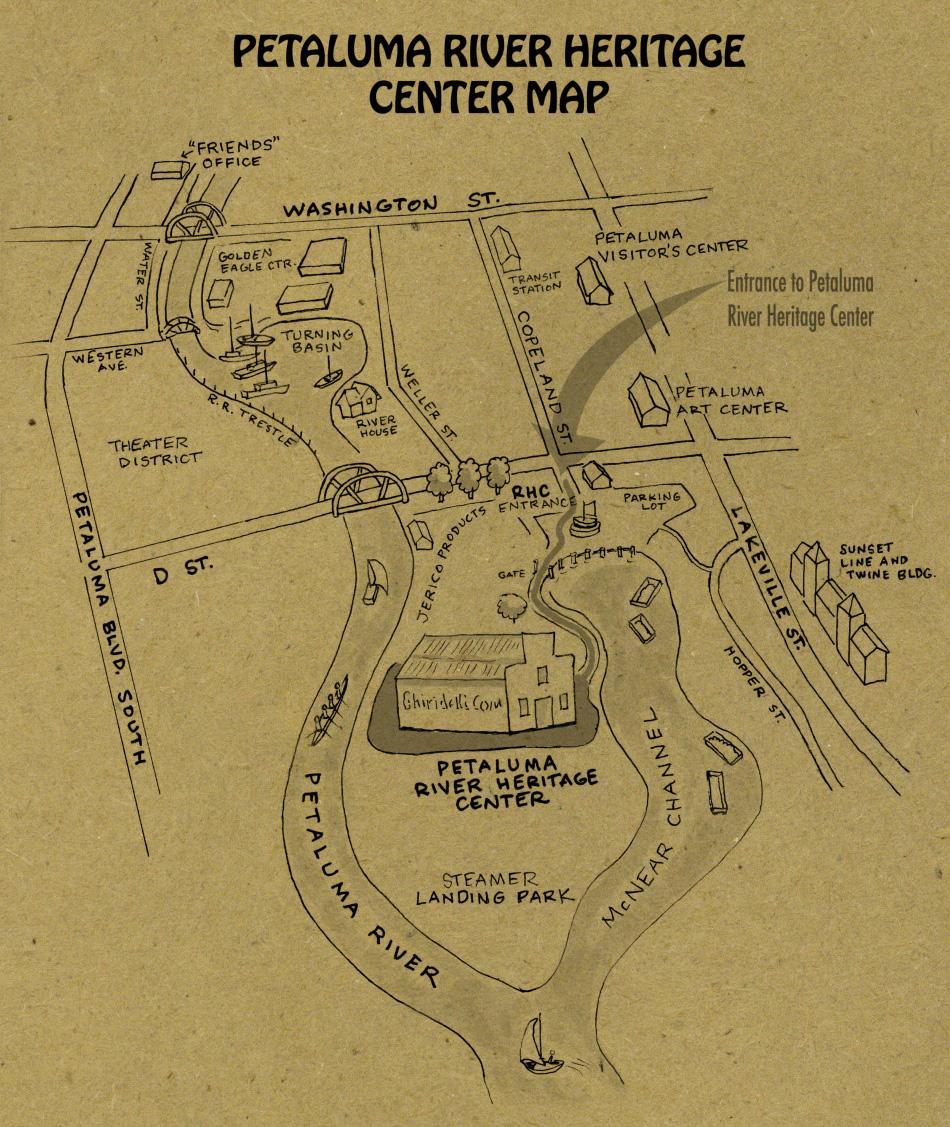Petaluma River Heritage Center Map