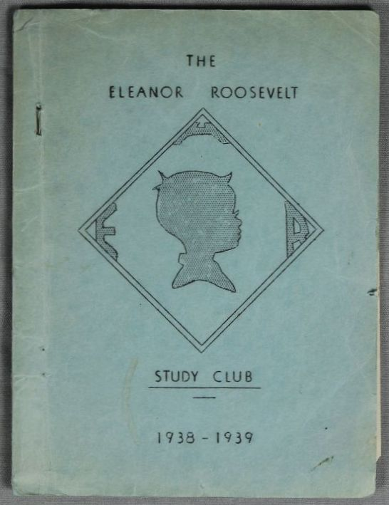 Eleanor Roosevelt Study Club yearbook, 1938-39