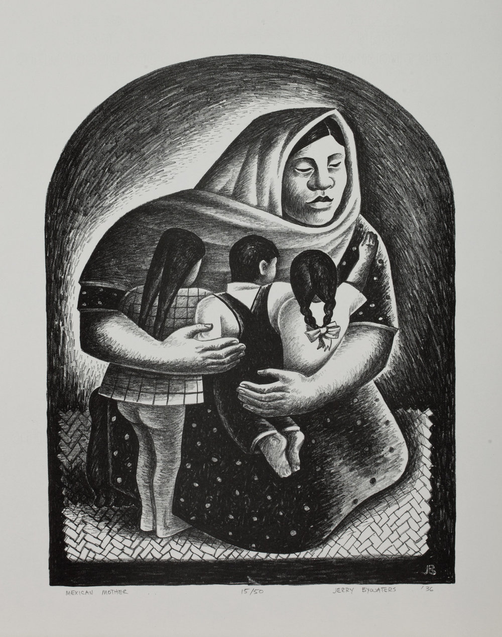 """Mexican Mother"" by Jerry Bywaters, 1936. (Photo: Collection of The Grace Museum)"