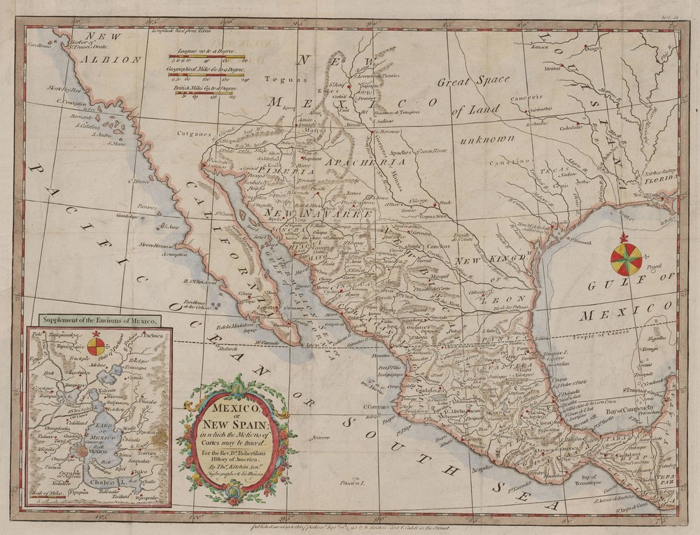 Mexico or New Spain, In Which the Motions of Cortes May Be Traced, 1795