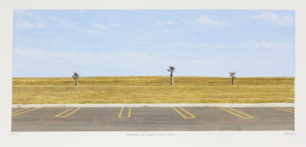 Julie Bozzi, Parking Lot by the Ocean