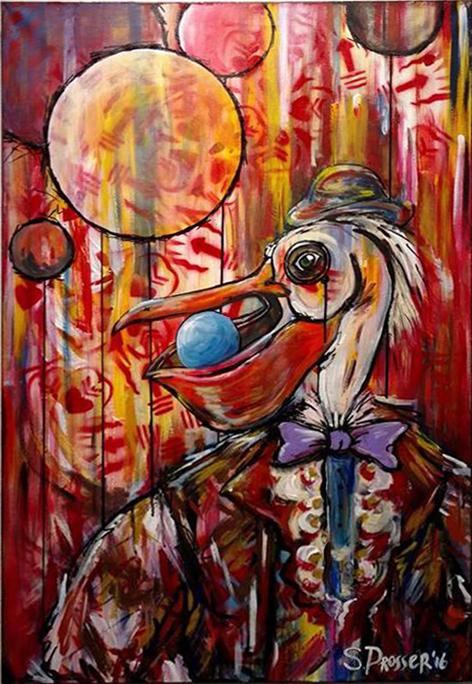 Albatross, acrylic on canvas, 24 x 36 in.