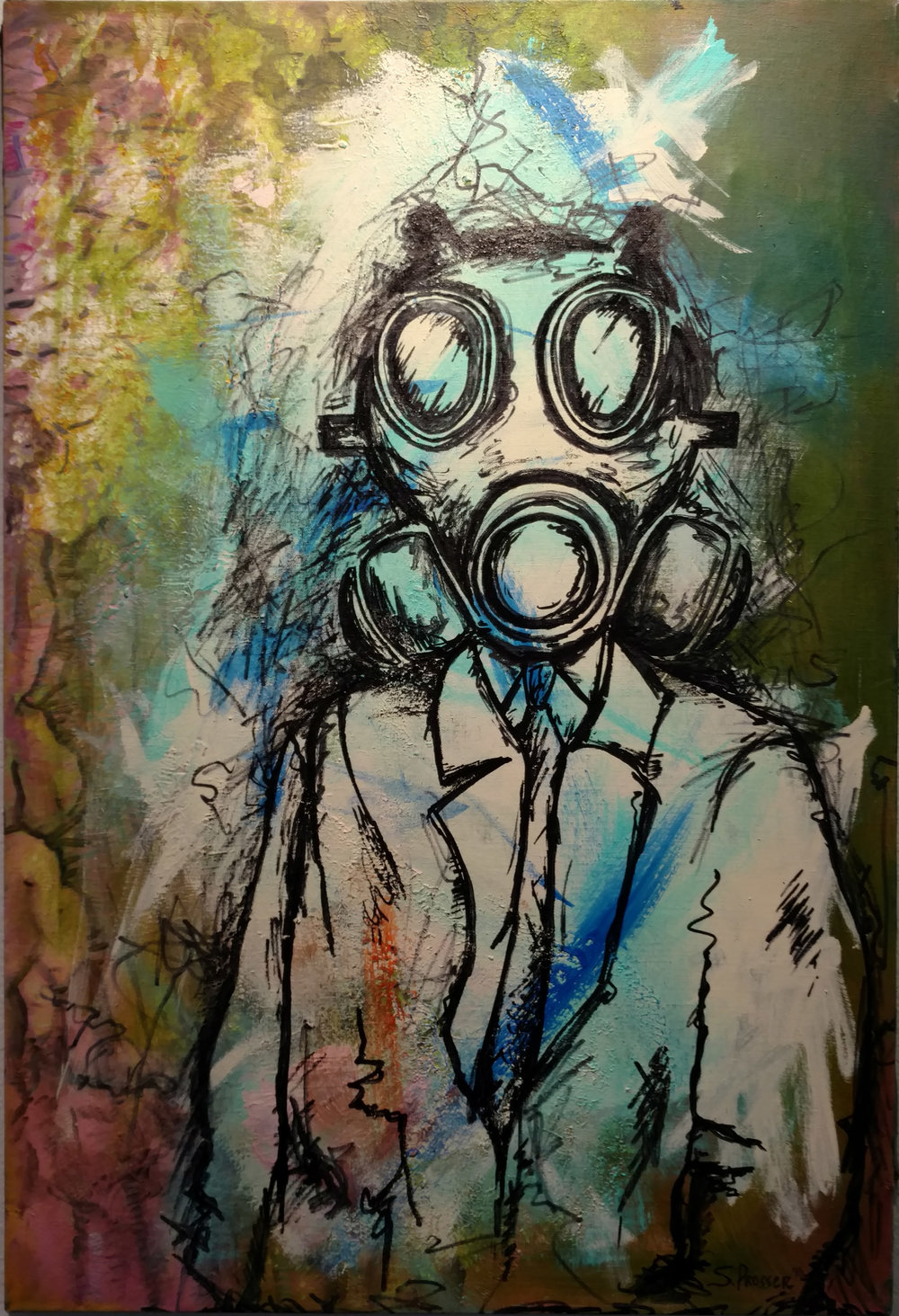 The Dr., acrylic on canvas, 24 x 36 in.