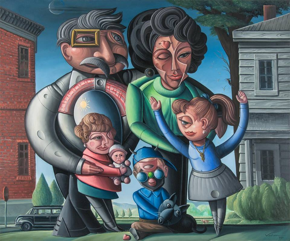 Image: Valton Tyler,  The Chitty Family of Terrell, Texas , 1989, oil on linen