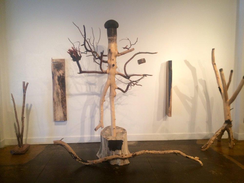 Larry Millar, Shiva, 2016, wood sculpture