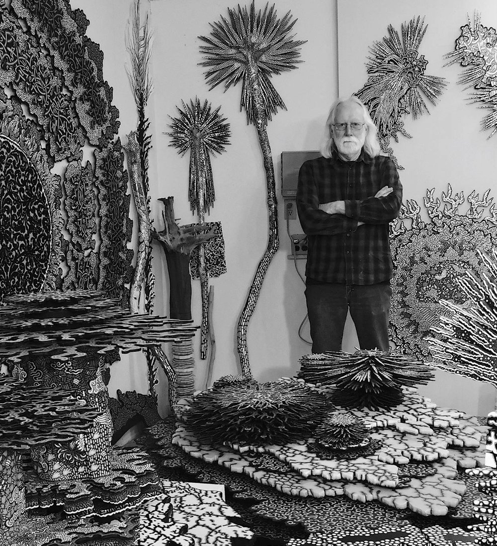 Terry Hays in his studio.