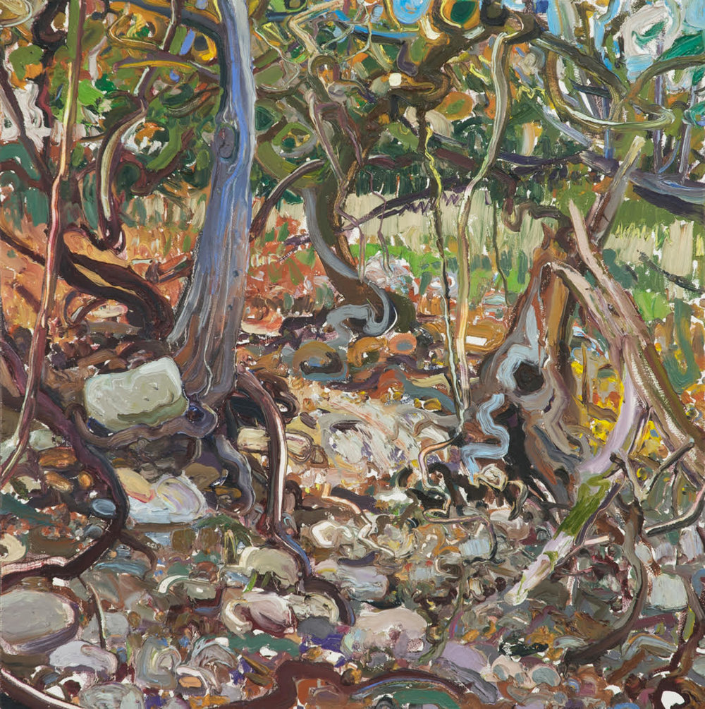 Lilian Garcia-Roig, Vine, Branch & Root Menagerie, 2008, oil on canvas, Collection of The Grace Museum, Gift of the 2019 Collectors Circle