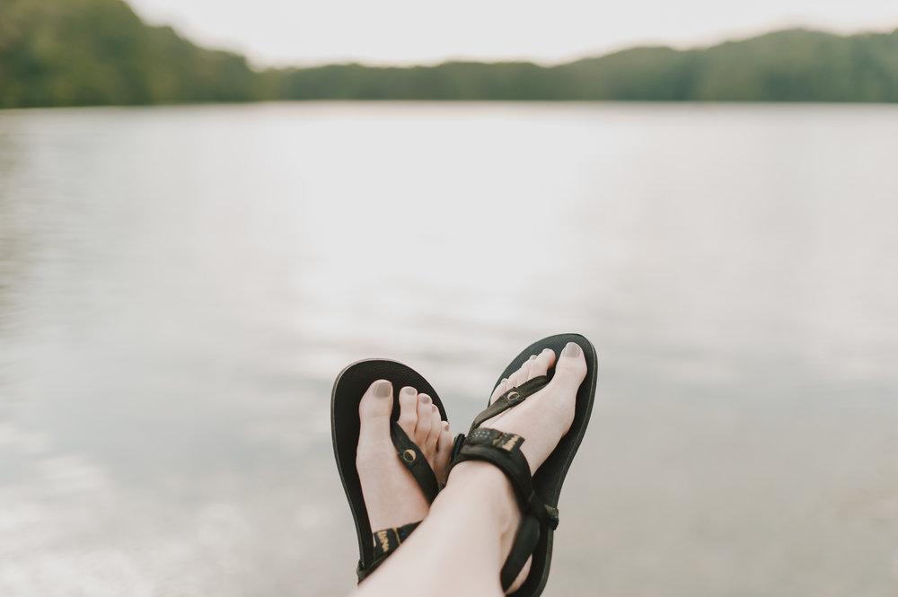 photos by hannah...wearing luna sandals after a short jog