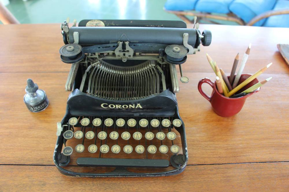 And this is Hemingway's typewriter...