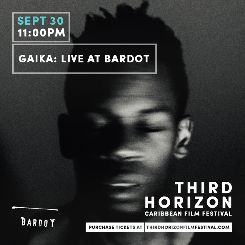 GAIKA is LIVE at Bardot for a perfect way to close out your September --Tickets available @ thirdhorizonfilmfestival.com -- See you there!
