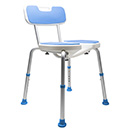 7105 / PADDED BATH SAFETY SEAT W/ HYGIENIC CUTOUT AND BACK REST