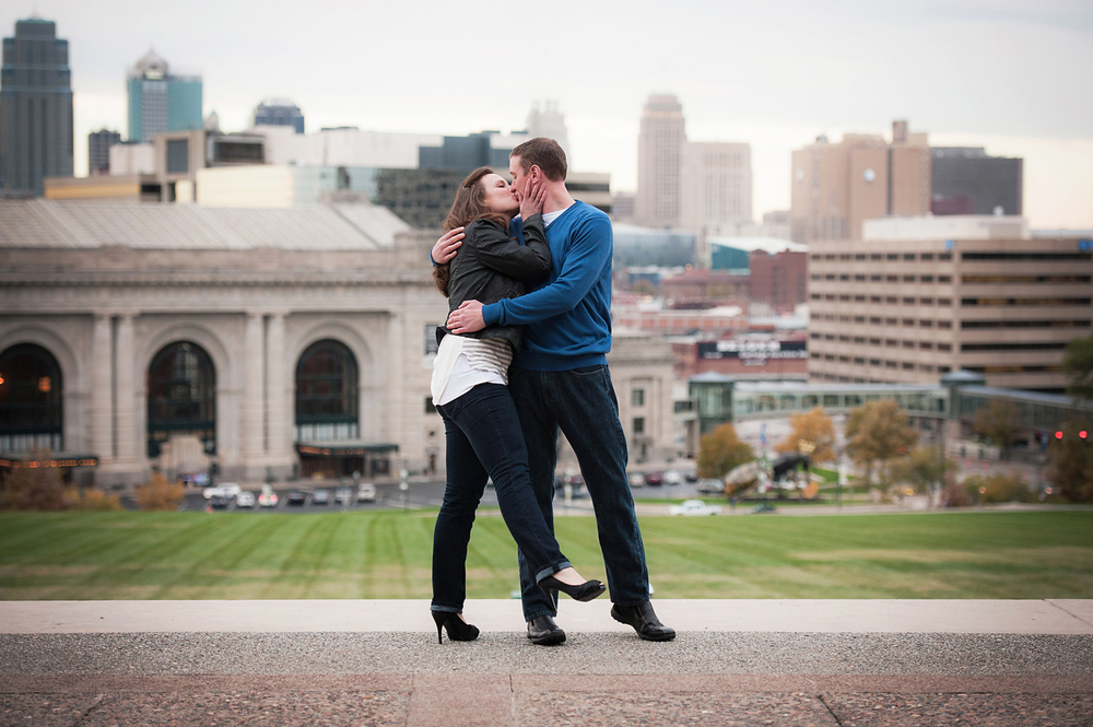 Liberty Memorial Engagment photographer