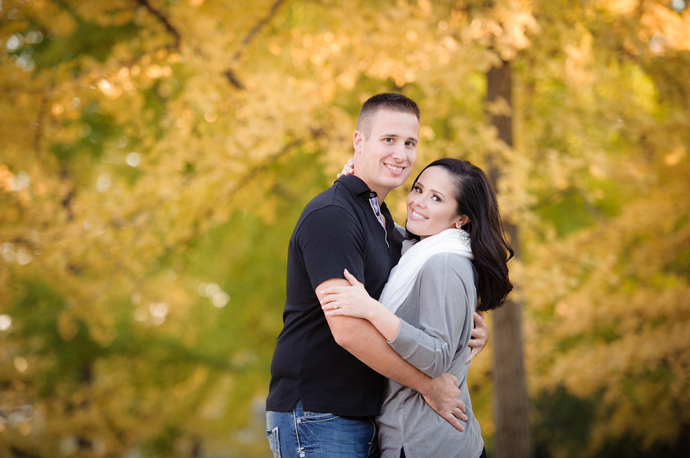Yellow Trees Fall Engagement