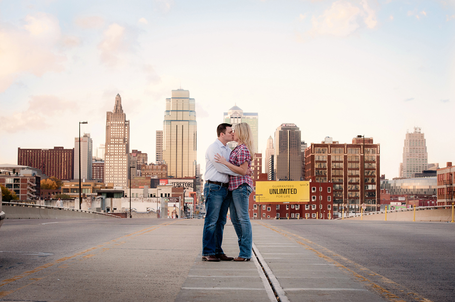 Kansas City Skyline Engagement