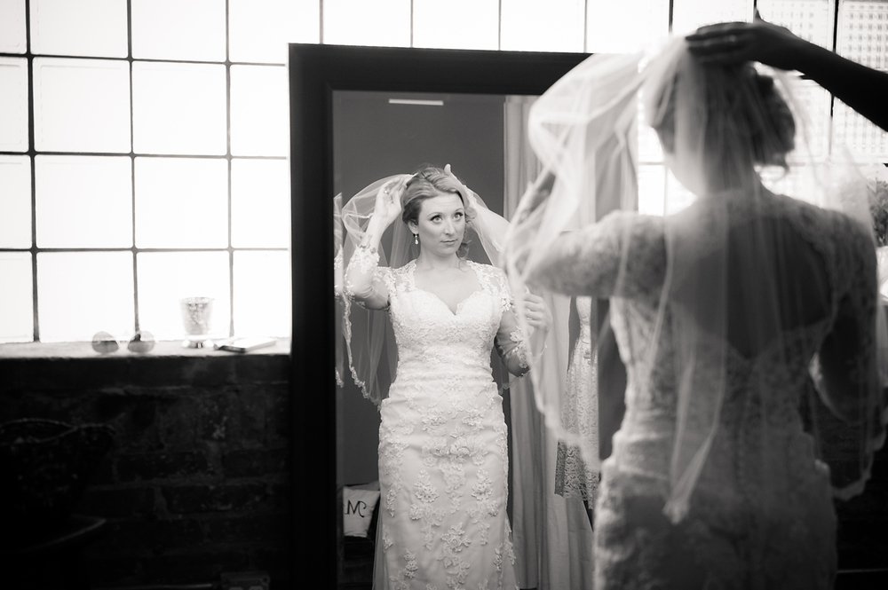 Getting ready bridal portrait