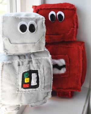 Grey & Red Robots