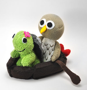 Turtle & Owl (Wedding cake top)