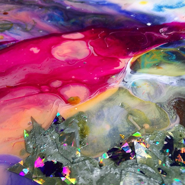 Holographic Marbling (Detail)