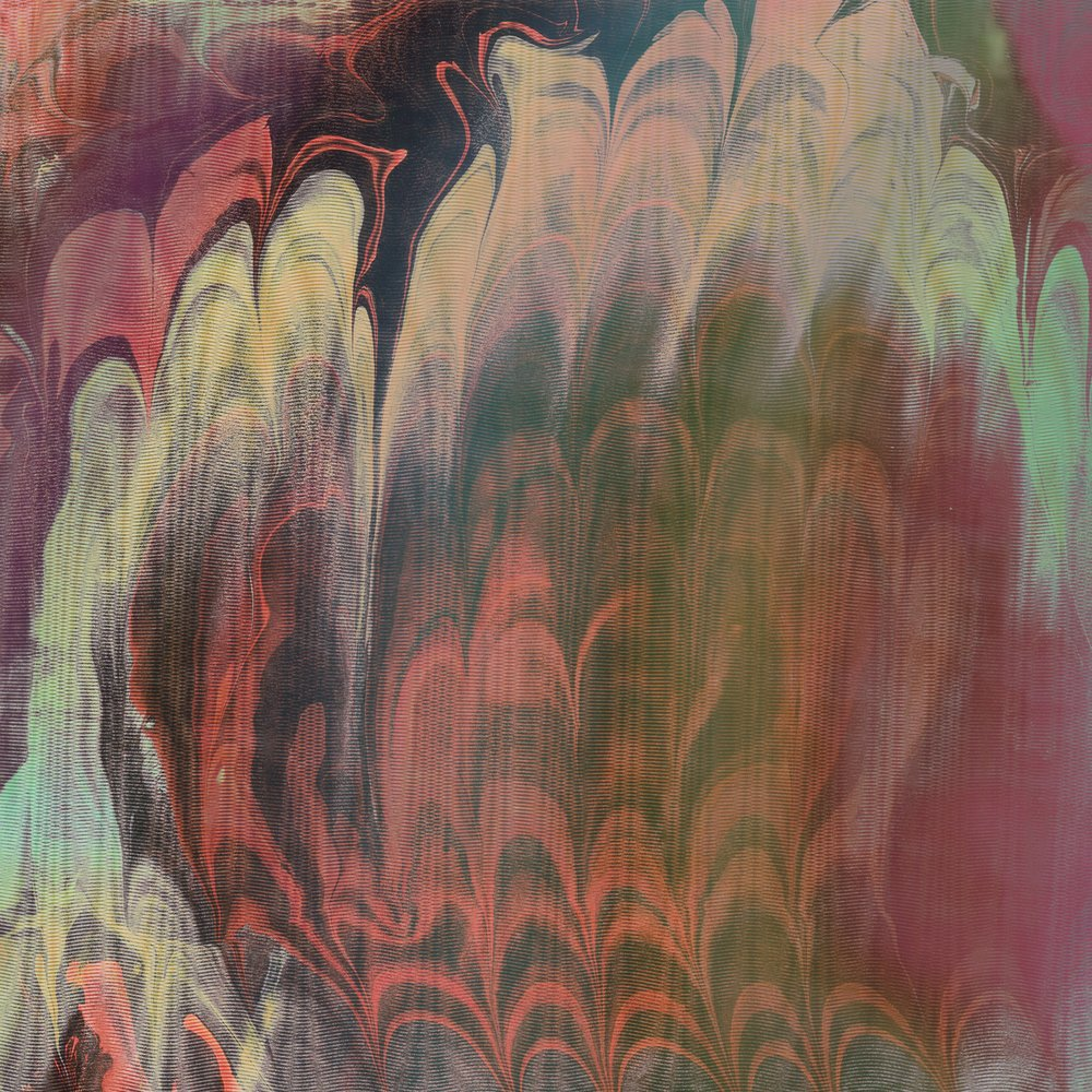 Paper marbling, digitally altered. 8 x 8 inches.
