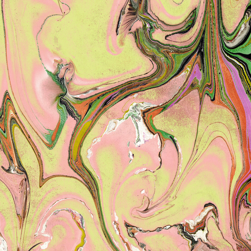 Paper marbling, digitally altered. 8.5 x 11 inches. (2017)