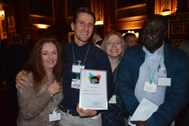 Collecting Our Award from the Houses of Parliament