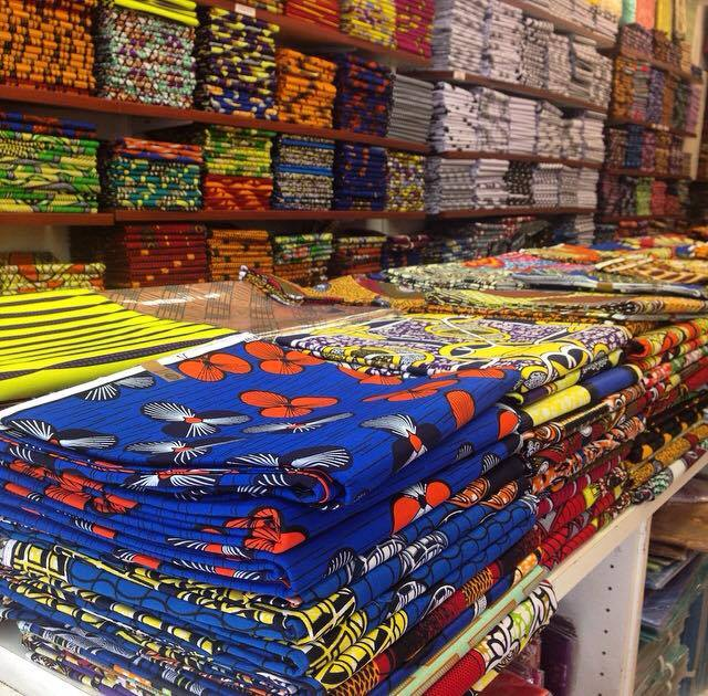We are surrounded by lots of beautiful fabric shops