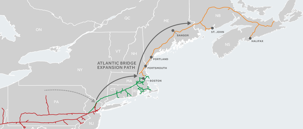 Map of Atlantic Bridge