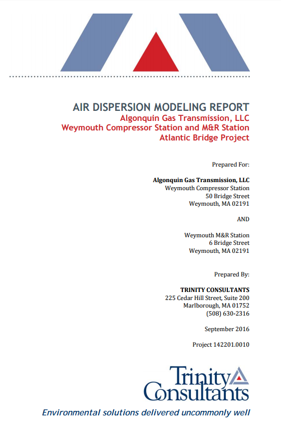 Air Dispersion Modeling Report (Nov. 2016)