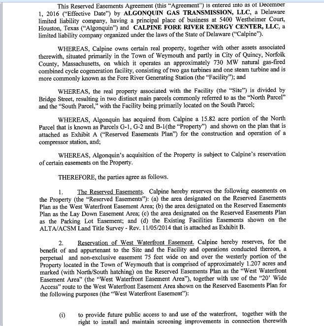 Easement Agreement p1.