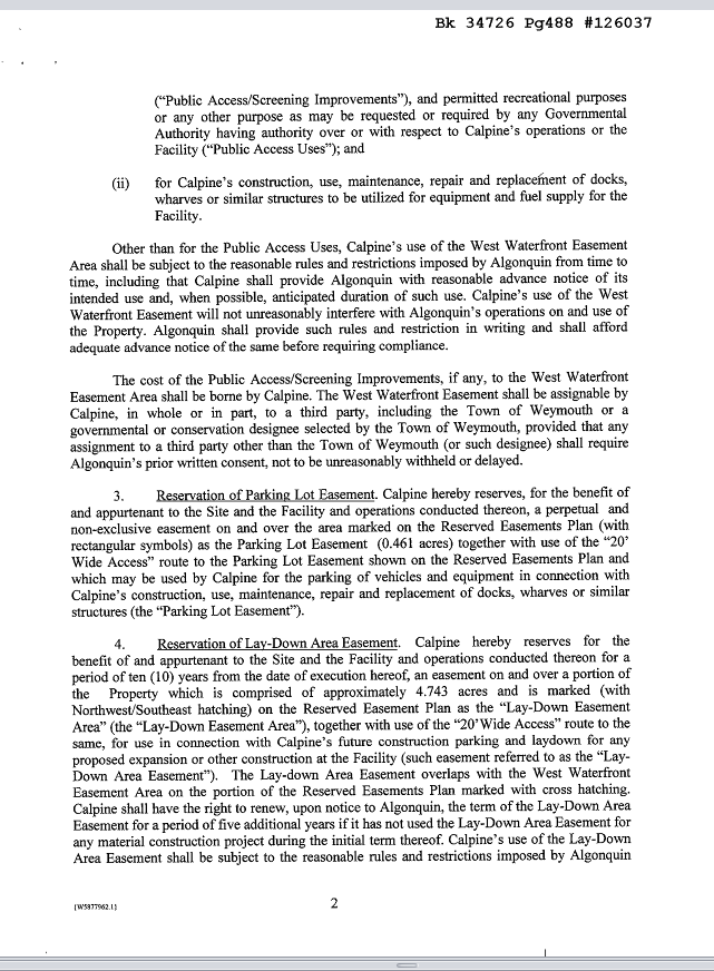 Easement Agreement p.2