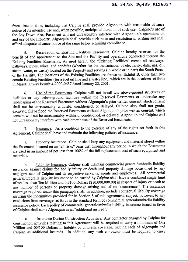 Easement Agreement p.3