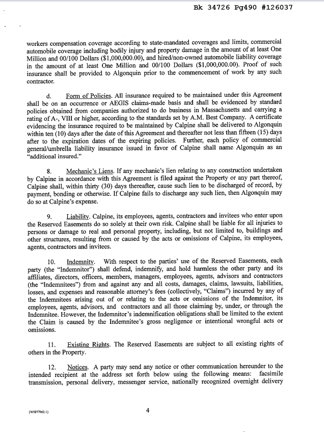 Easement Agreement p.4