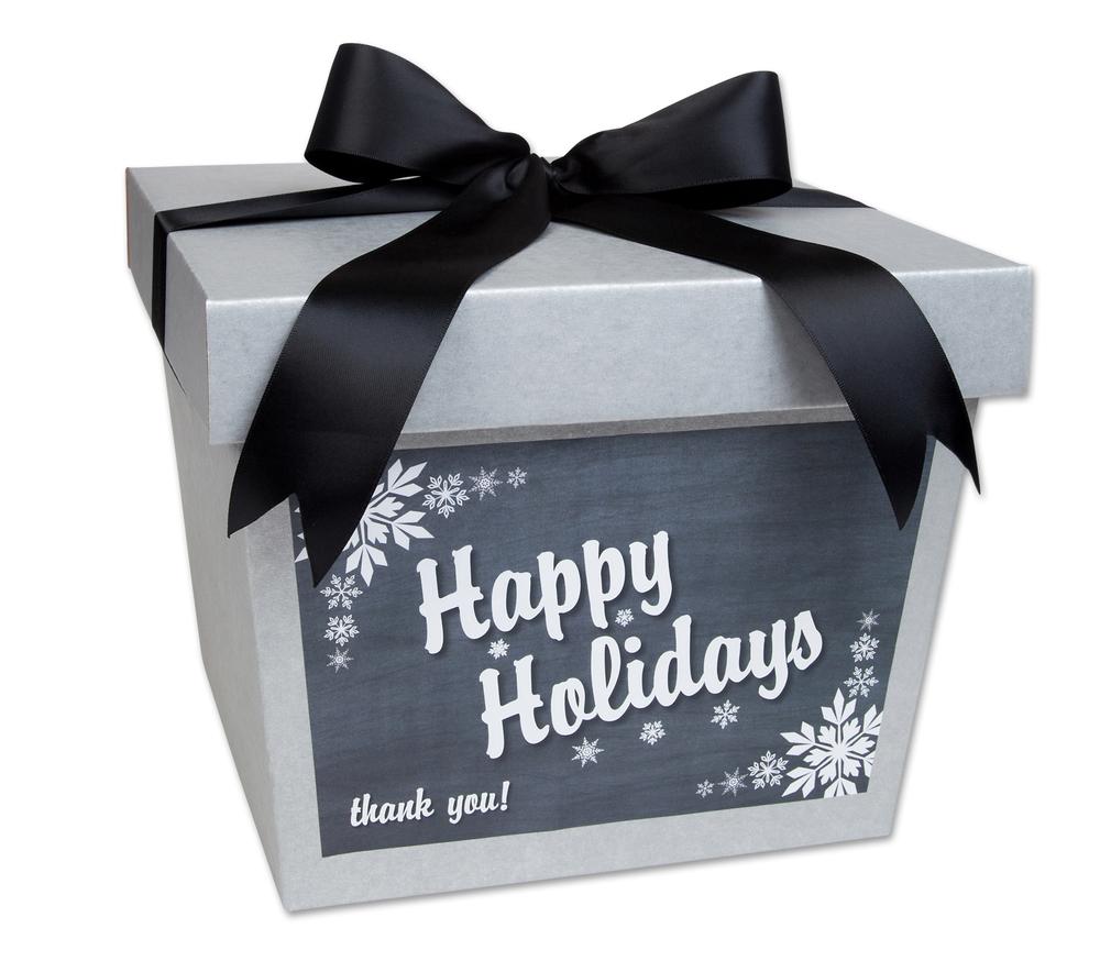 Happy Holidays Ribbon Box