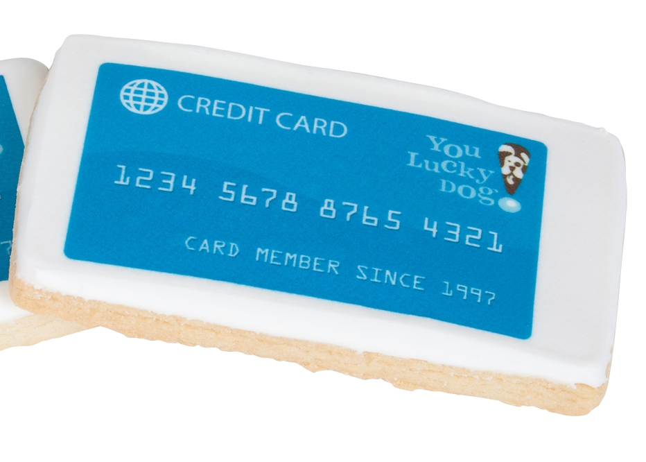 Frosted Credit Card Cookies