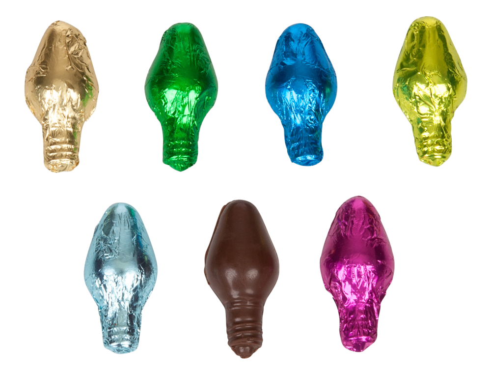 Foil Wrapped Holiday Lights