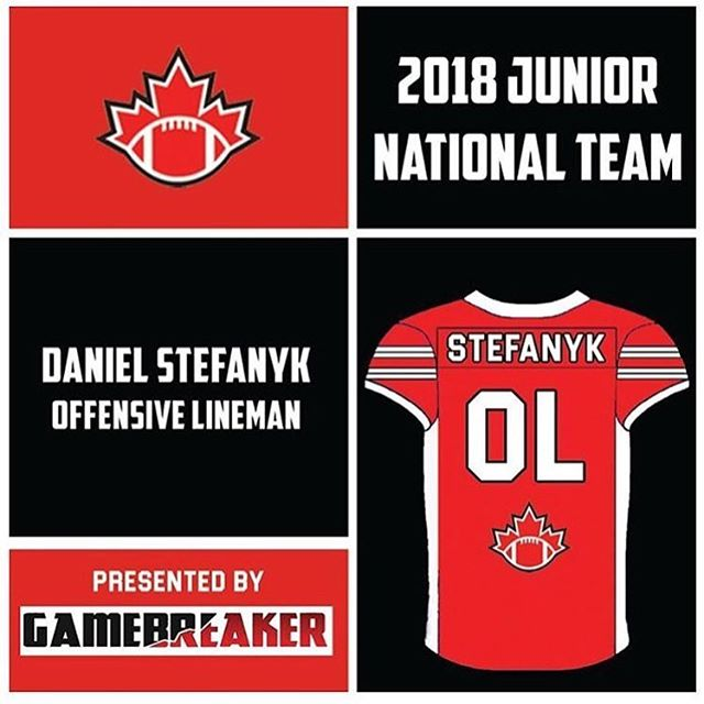 Congratulations to @daniel_stefanyk on making the jr national @footballcanada_official team!! #beast #beastmode #football #yycfit #yyc #canada #alberta #strongman #strength #strengthtraining #training #bigboss #speed #dontskipthework