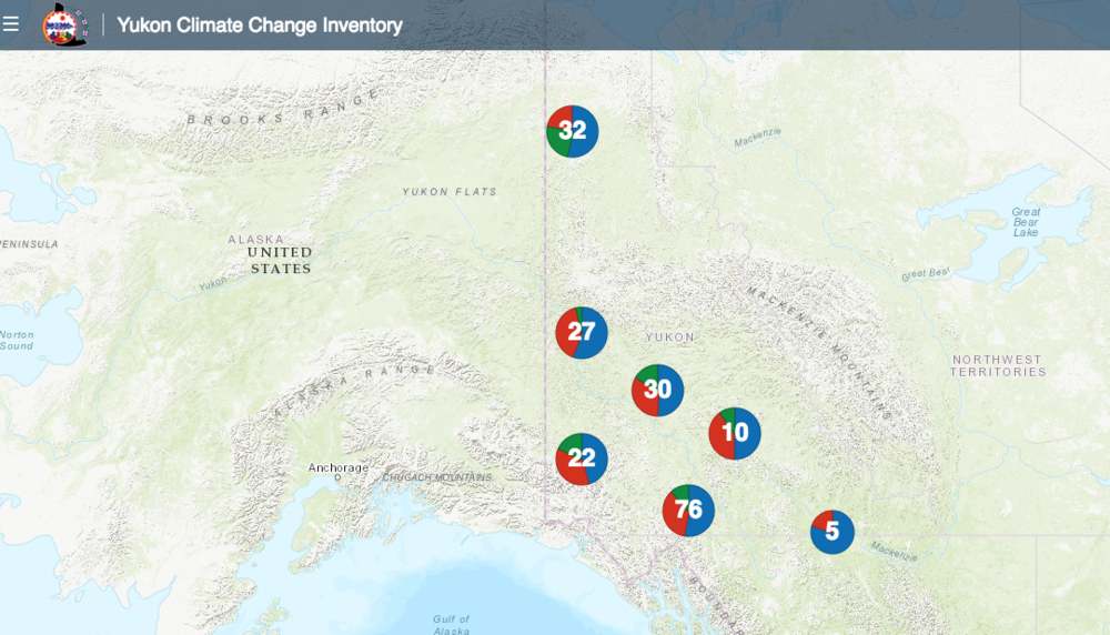 Yukon Climate Change Inventory Map