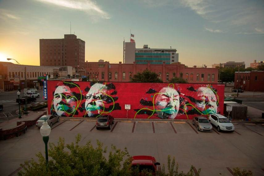 Artist: Askew - Location: 5th and Garrison Avenue Fort Smith, Arkanas