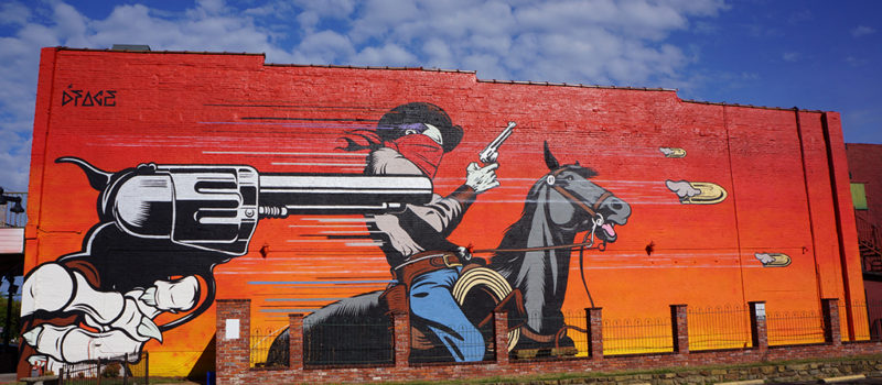 Artist: D*Face - Location: 317 Garrison Avenue Fort Smith, Arkansas