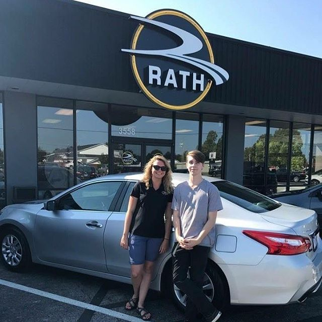 """Rath Auto surprised me with how much they were willing to do for me in order to get the best payment possible, and to make sure I drove off the lot very pleased! This was my first official time buying a car, and everyone was telling me how much of a hassle it can be. Rath made it extremely easy, and extremely tolerable! I'm definitely going to start recommending this car dealer to others!"" Solution Specialist: Kara Martin"